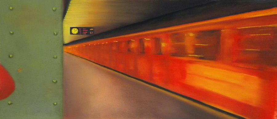 Subway Pastel - Berlin Subway by Carrie Diaz