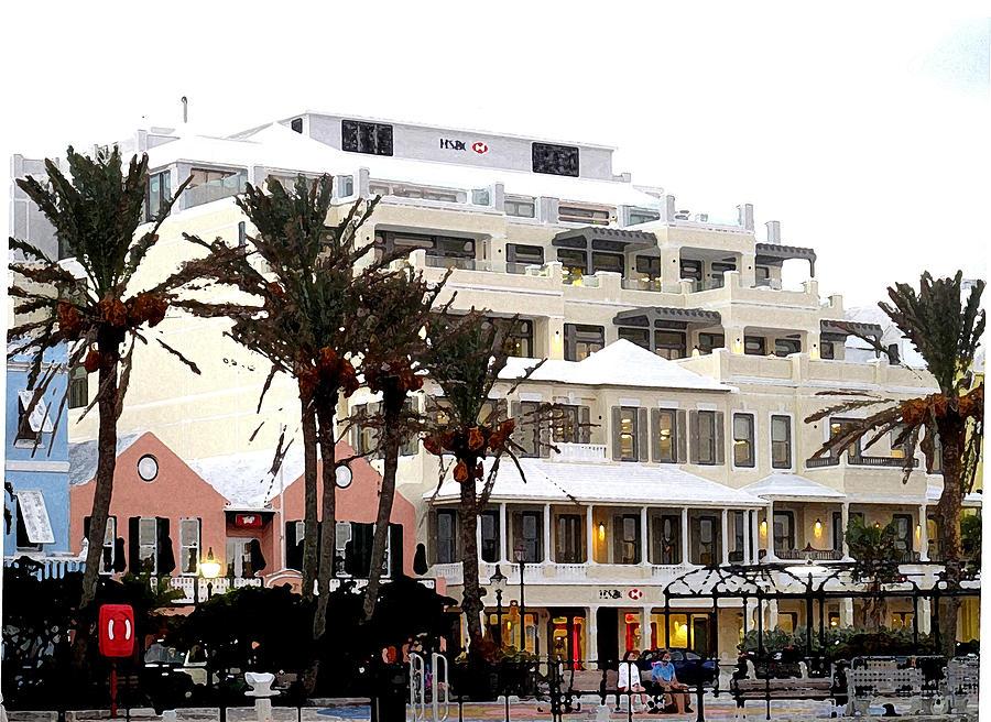 Bermuda Photograph - Bermuda Front Street Four by Ian  MacDonald
