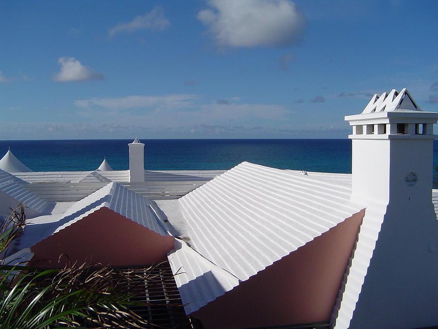 Bermuda Photograph - Bermuda Rooftops by Laura Araujo