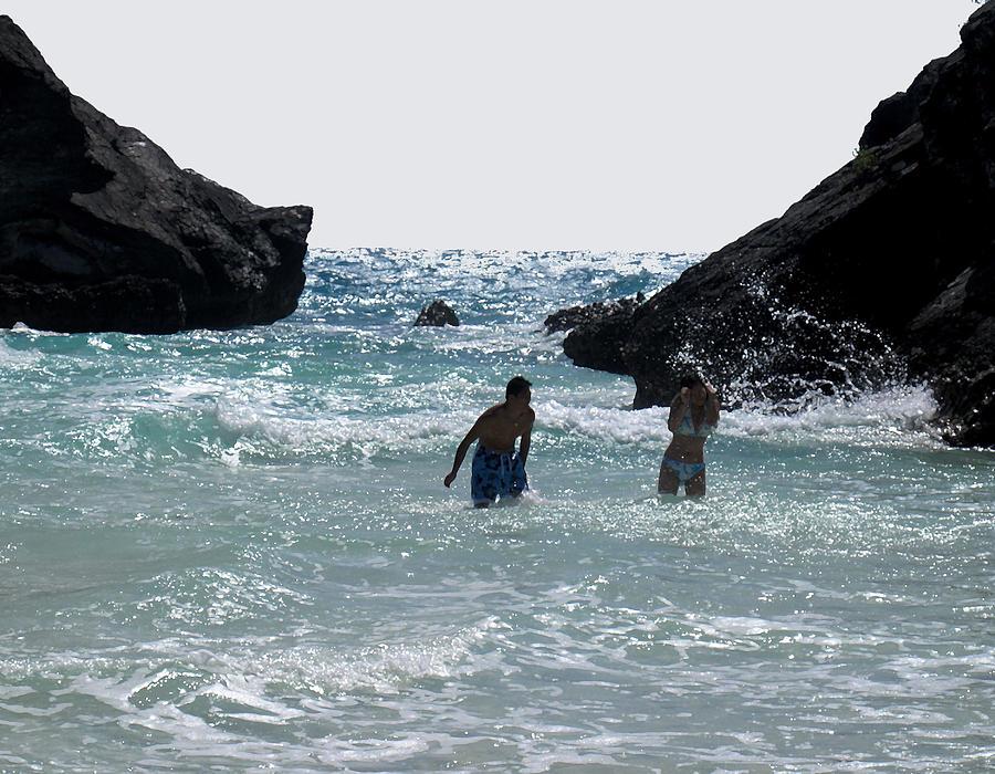 Bermuda Photograph - Bermuda Splash by Ian  MacDonald