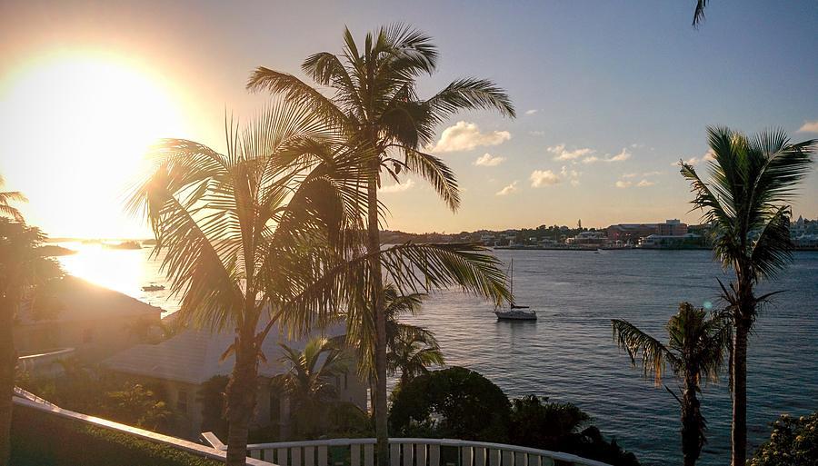 Sailboat Photograph - Bermuda Sunset Sailboat by Stephen Lavoie
