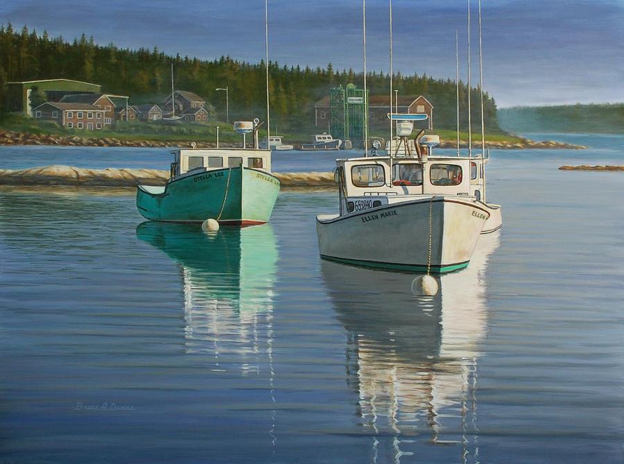 Boat Painting - Bernard Harbor by Bruce Dumas