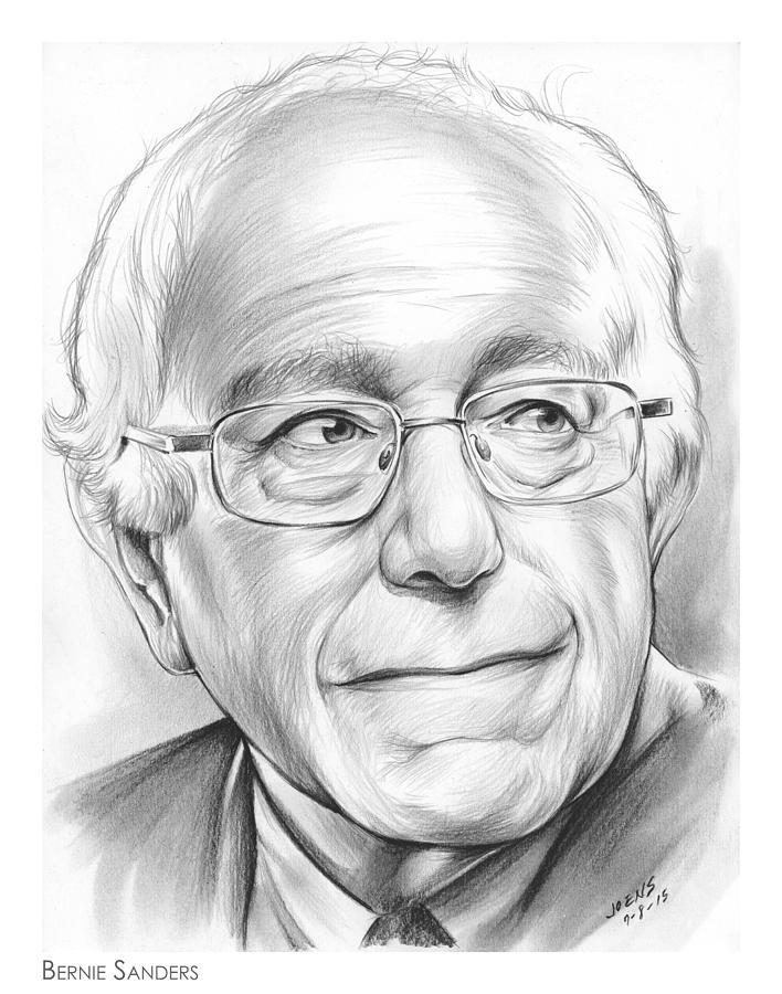 Bernie Sanders Drawing - Bernie Sanders by Greg Joens