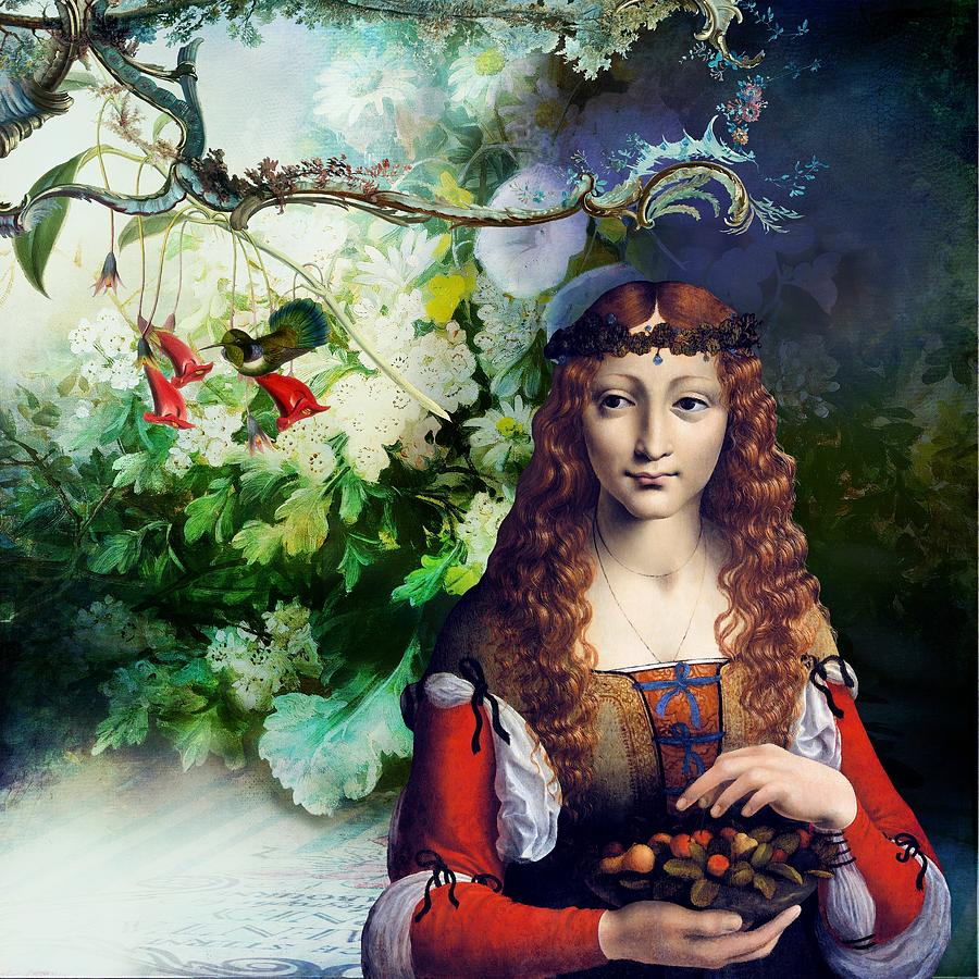 Women Digital Art - Berries and Birds by Laura Botsford