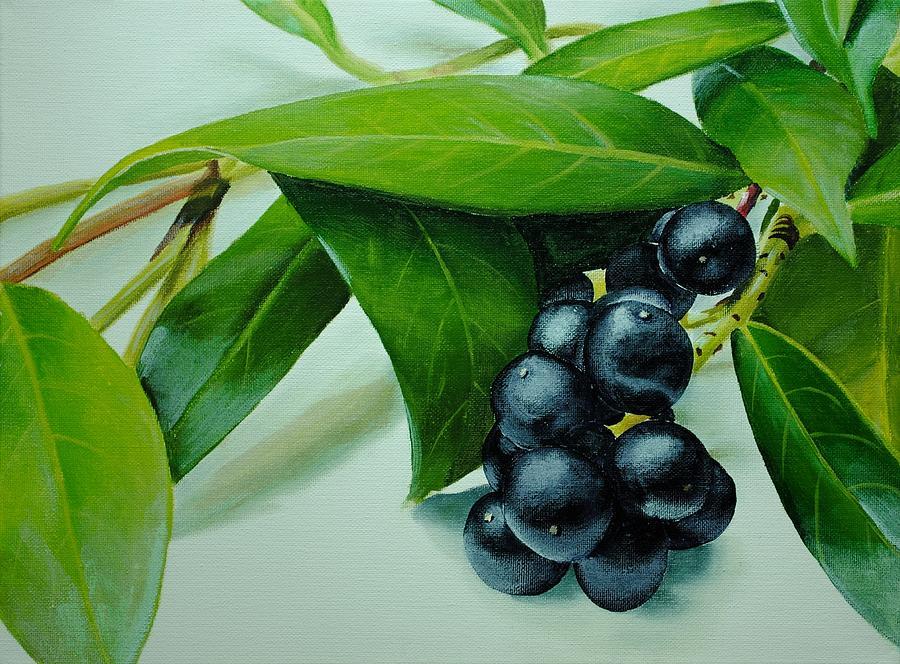 Acrylic Painting - Berries Still Life by Nolan Clark