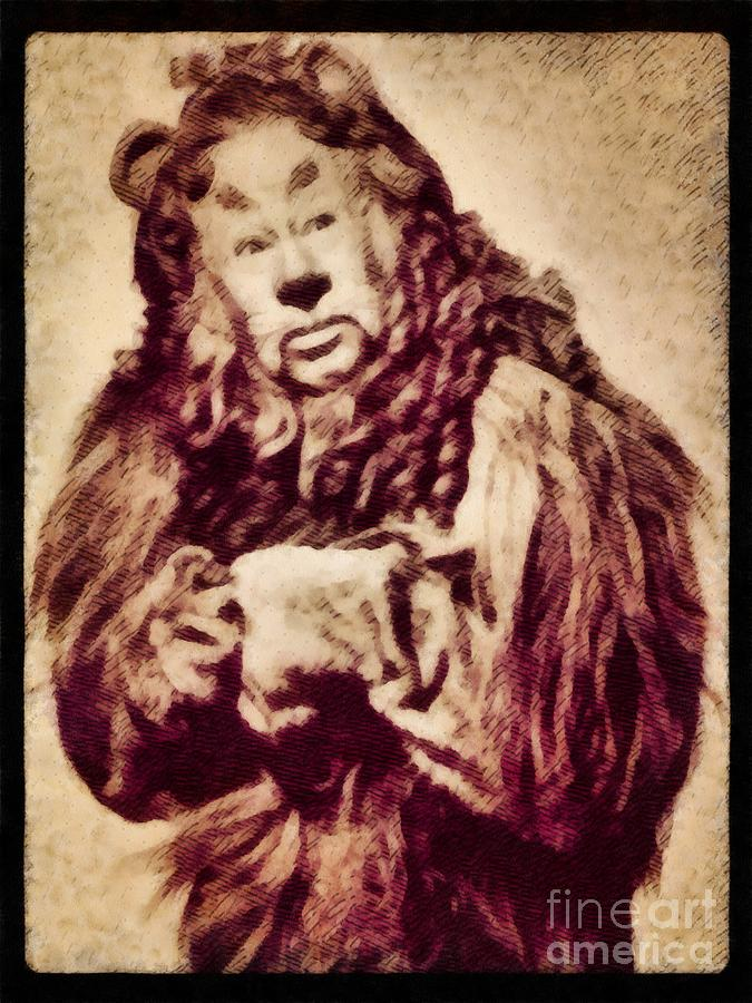 Bert Lahr, Lion From The Wizard Of Oz By John Springfield Painting