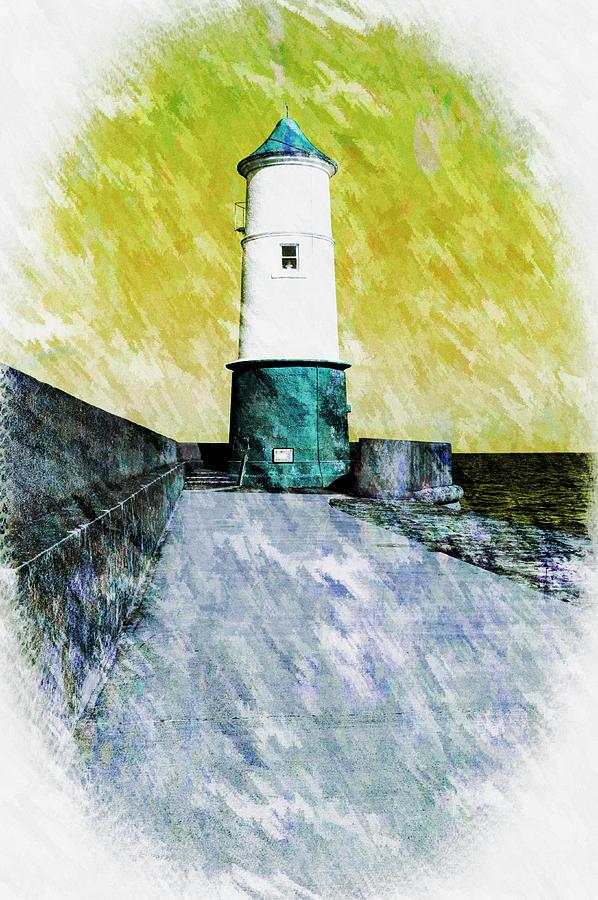 Berwick Photograph - Berwick Lighthouse As Graphic Art. by Paul Cullen