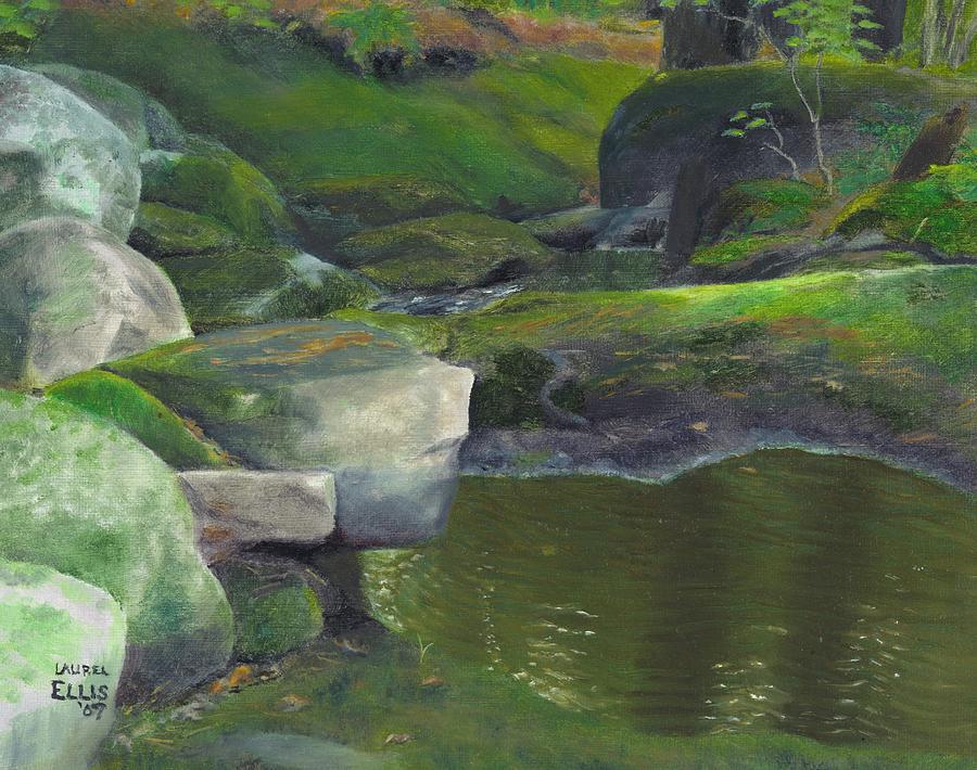 Landscape Painting - Beside Cool Waters by Laurel Ellis