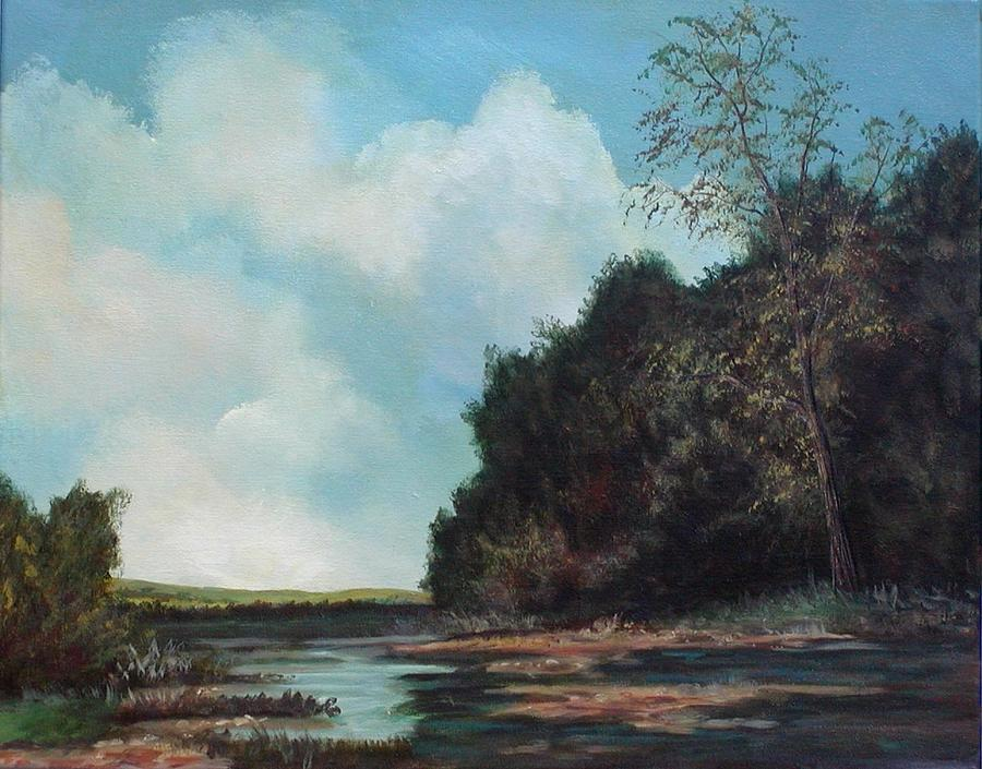 Beside Still Waters Painting by Sharon Steinhaus