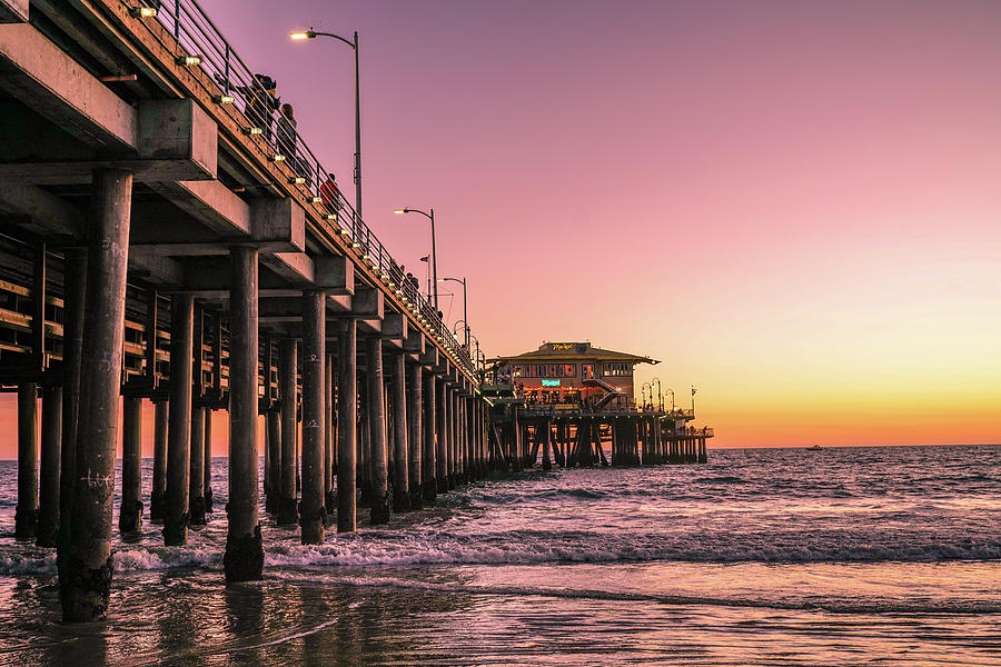 Pier Photograph - Beside The Pier By Mike-hope by Michael Hope
