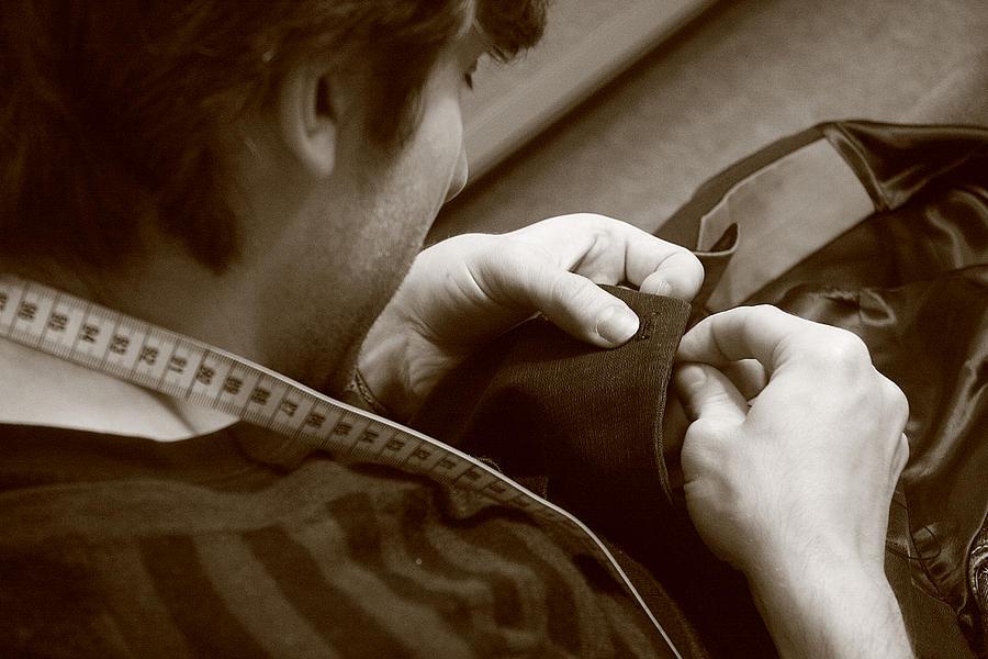 Bespoke Tailor Photograph - Bespoke tailor by Adam Sworszt