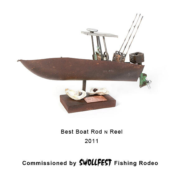 Found Object Sculpture - Best Boat Rod N Reel by Benjamin Bullins