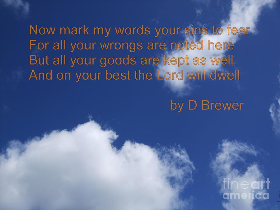 Poem Photograph - Best by Deborah Brewer