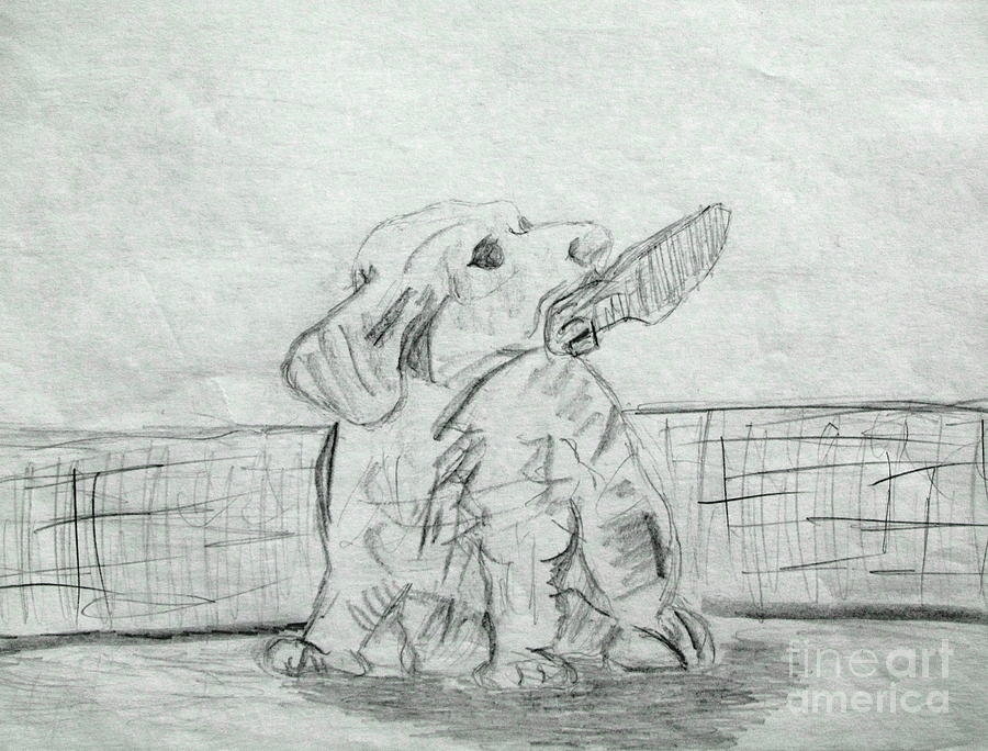 Best Friend 2 Drawing by Julie Coughlin