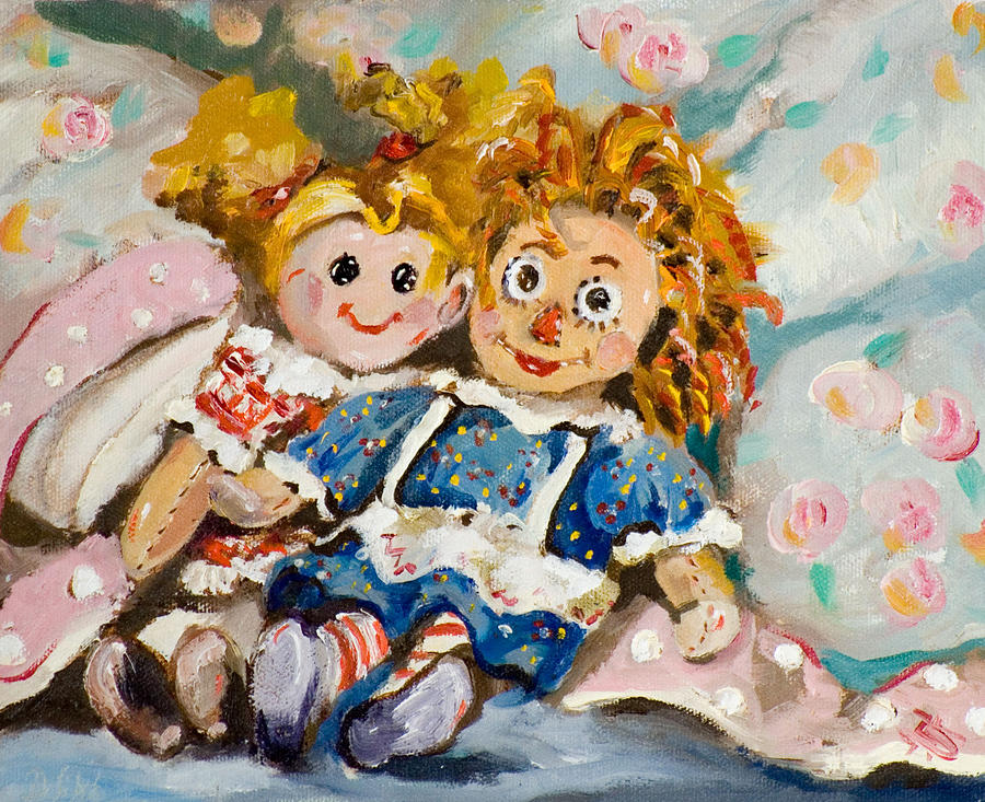 Dolls Painting - Best Friends by Delilah  Smith