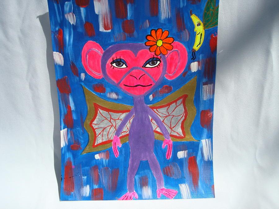 Monkey Painting - Best Friends Forever by Gypsie Moe