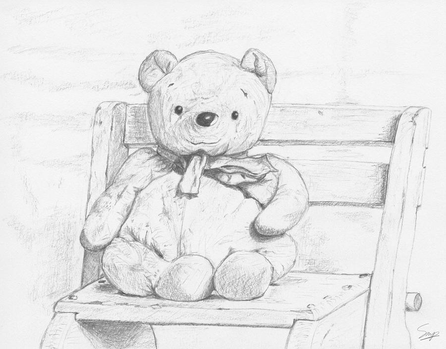 Sketch Drawing - Best Friends Forever by Steven Powers SMP