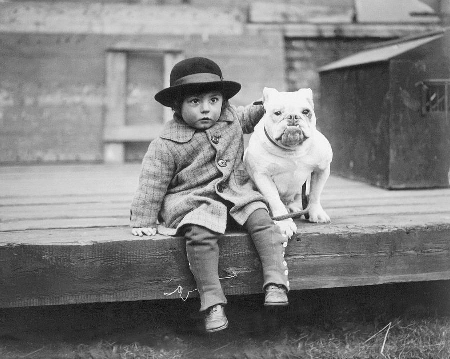 Child Photograph - Best Friends by Kirby