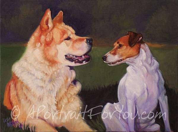 Dogs Painting - Best Friends by Liz Van der Werff