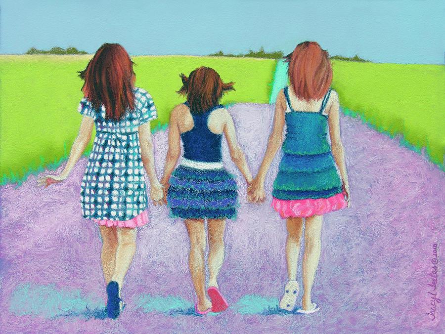 Best Friends Pastel By Tracy L Teeter
