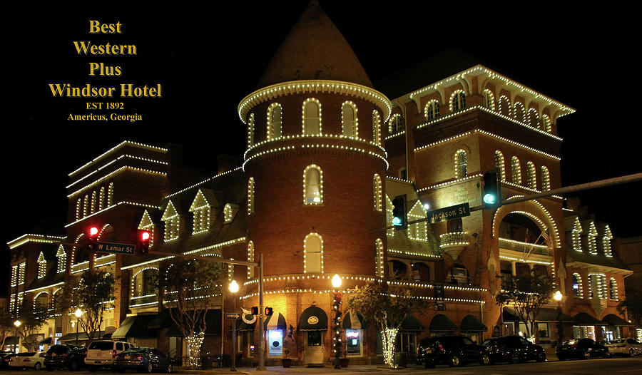 Americus Photograph - Best Western Plus Windsor Hotel - Christmas by Jerry Battle