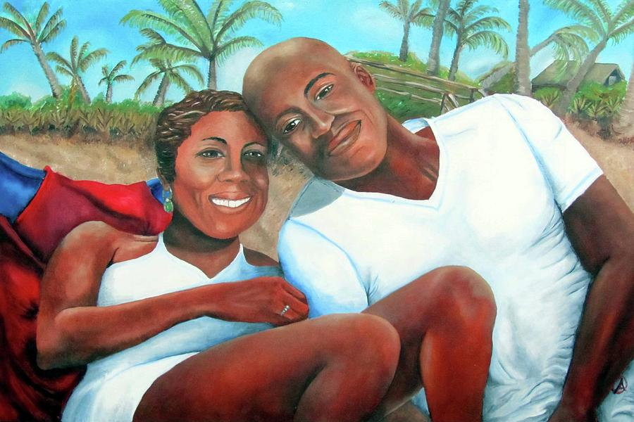 Portrait Painting - Best Wishes by Alima Newton