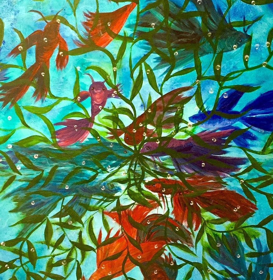 Beta Painting - Betas Harmony by Diane Sleger