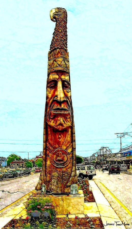 Bethany Beach Photograph - Bethany Beach Totem by Jeffrey Todd Moore