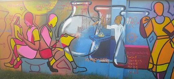 Mural Painting - Bethel Educational Mural1 by Sylvester Banahene