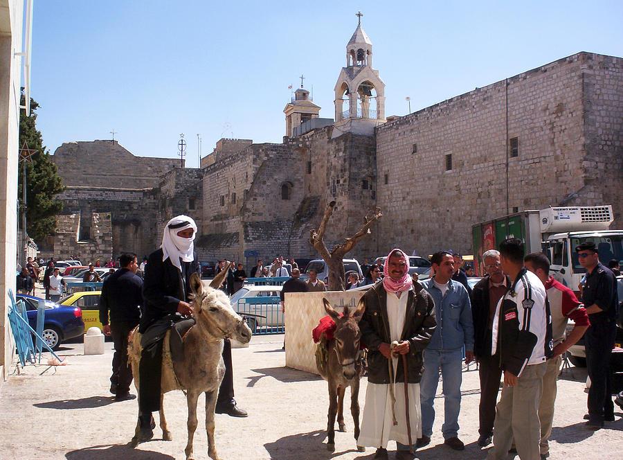 Bethlehem Photograph - Bethlehem - Nativity Square Demonstration by Munir Alawi