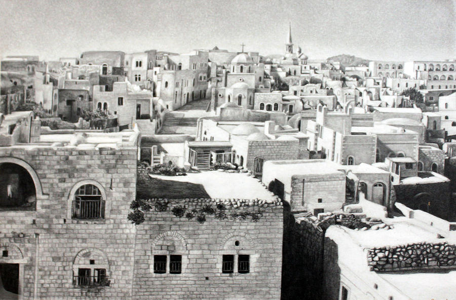 Bethlehem Old Town Photograph by Munir Alawi