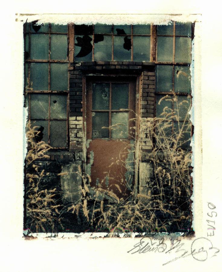 Polaroid Photograph - Bethlehem Steel Doorway by Steven  Godfrey