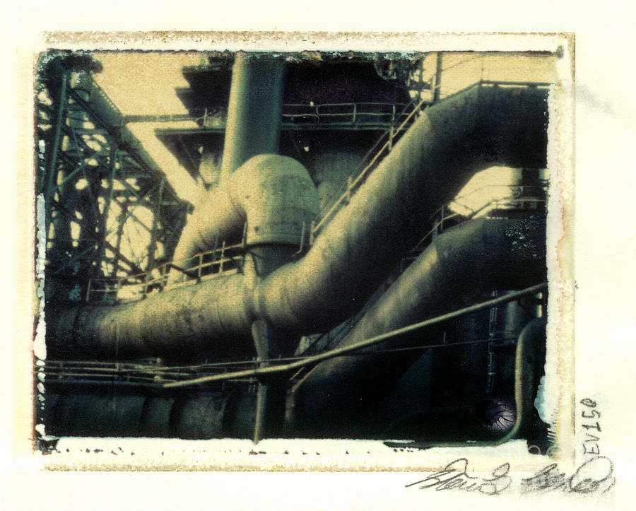 Polaroid Photograph - Bethlehem Steel Exterior View 2 by Steven  Godfrey