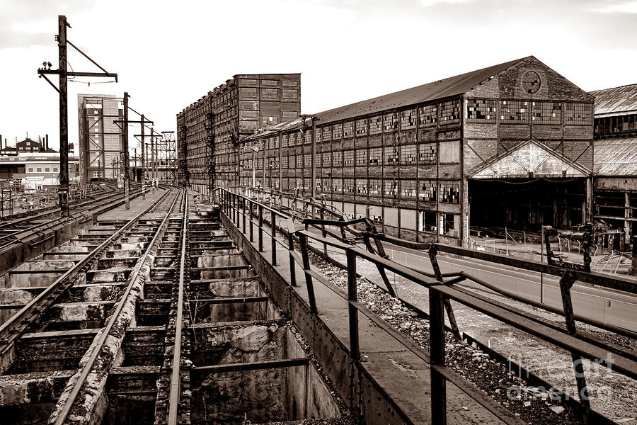 Machine Photograph - Bethlehem Steel Number Two Machine Shop by Olivier Le Queinec