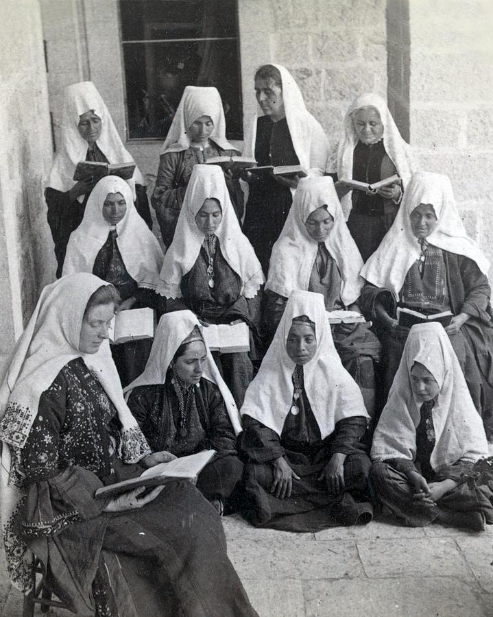 Bethlehem Photograph - Bethlehem Women School 1900s by Munir Alawi