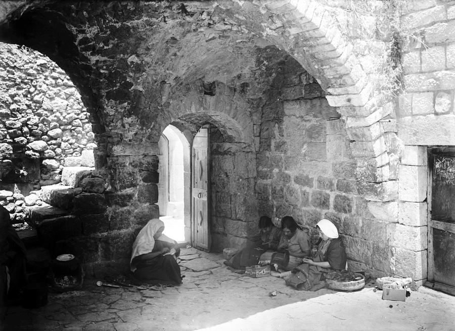 Bethlehem Photograph - Bethlehemites Women Working Year 1925 by Munir Alawi