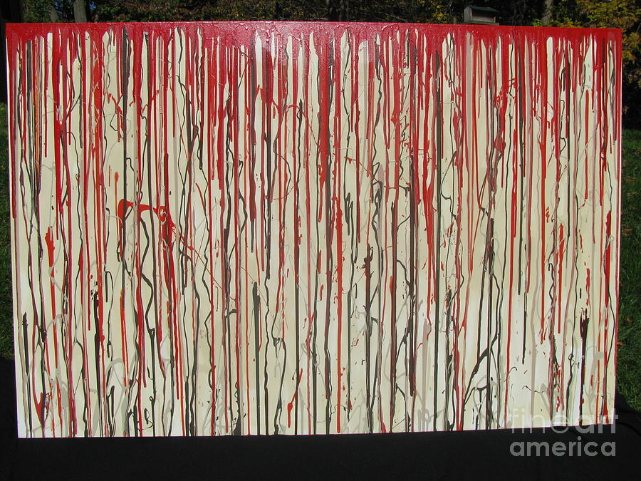 Blood Painting - Betrayal by Jacqueline Athmann