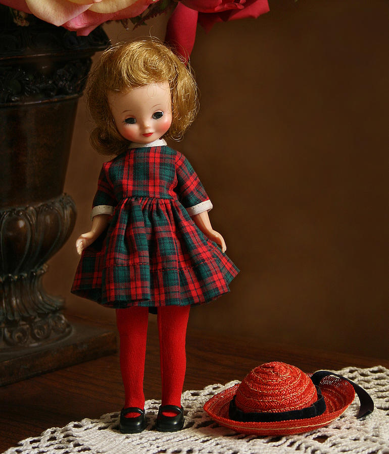 Betsy Photograph - Betsy In Plaid by Marna Edwards Flavell