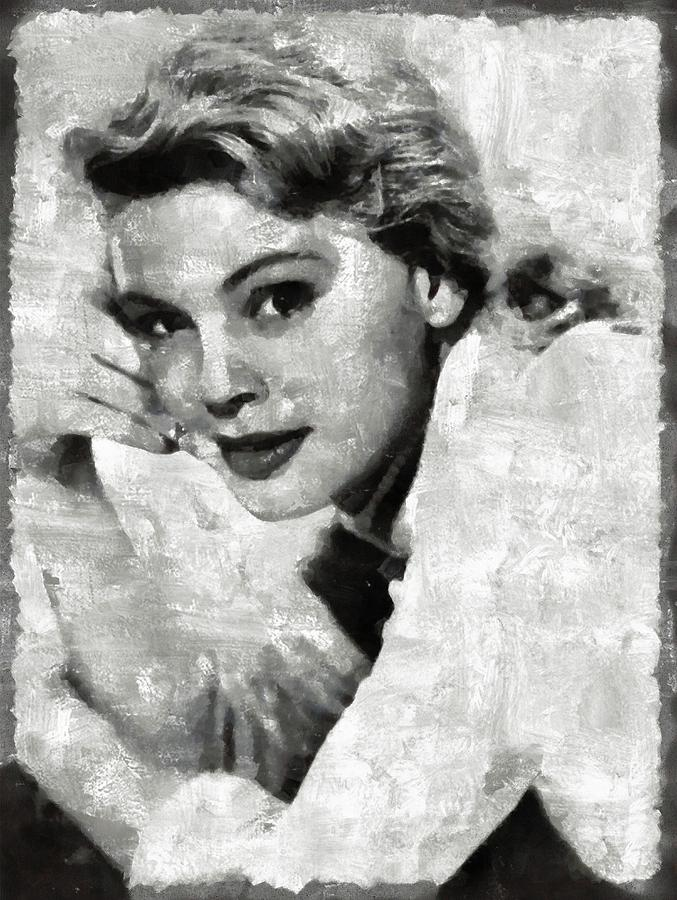 Betsy Painting - Betsy Palmer Vintage Hollywood Actress by Mary Bassett