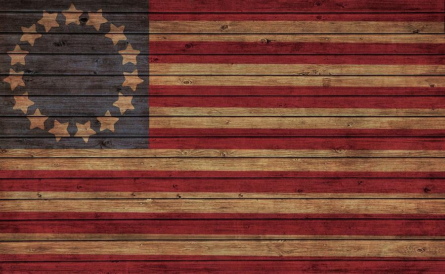 Betsy Ross Flag Photograph - Betsy Ross American Flag Barn by Dan Sproul
