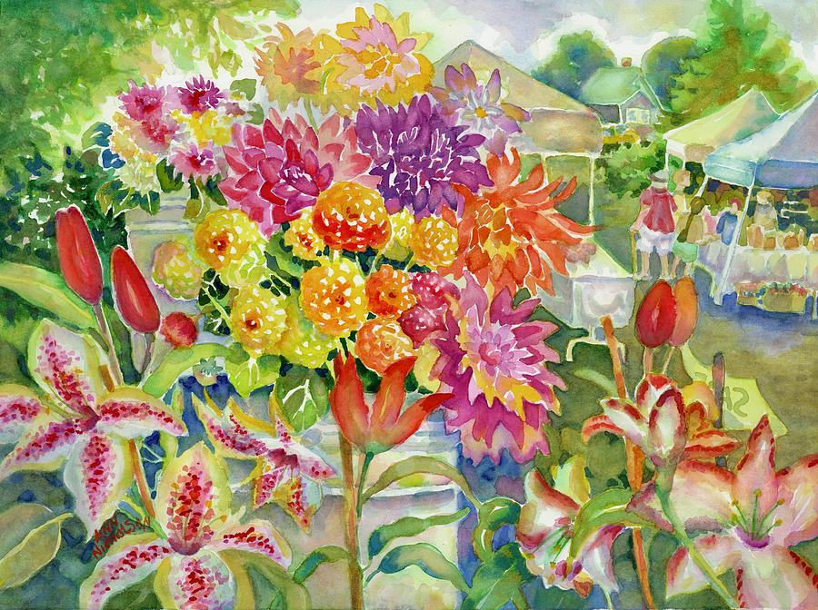 Betsy's Dahlias II by Ann Nicholson