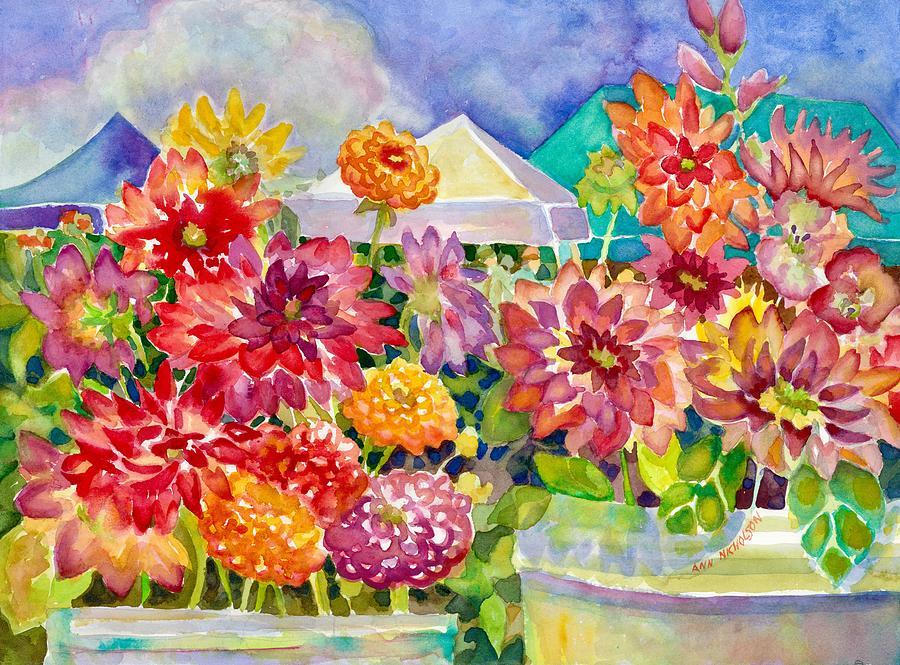 Betsy's Dahlias III by Ann Nicholson
