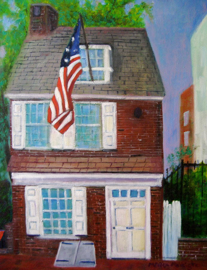 Betsy Ross Painting - Betsys House by Marita McVeigh