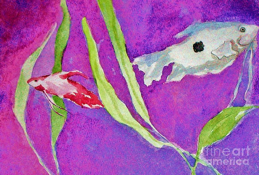 Fish Painting - Betta And Gourami by Emily Michaud