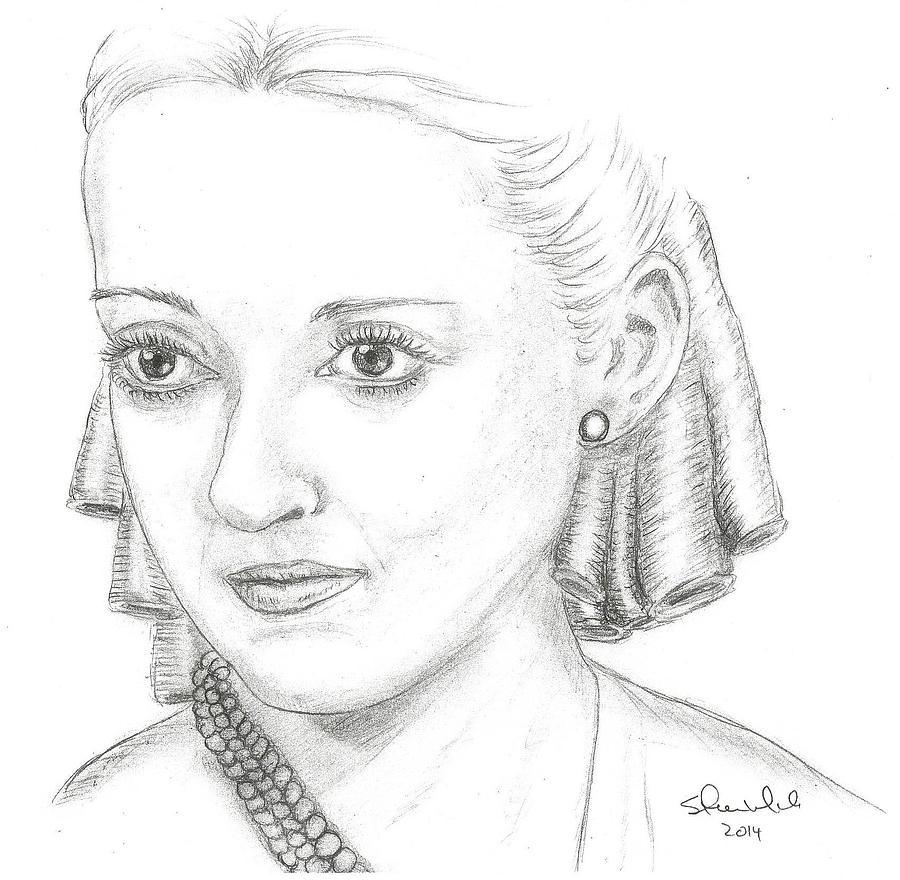 Bette Davis Drawing - Bette Davis by Steven White
