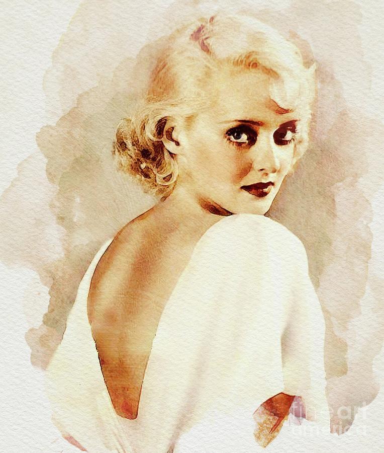 Bette Davis, Vintage Actress Digital Art