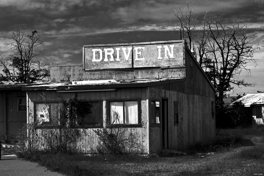 Movie Theater Photograph - Better Days - An Old Drive-In by Joseph Noonan