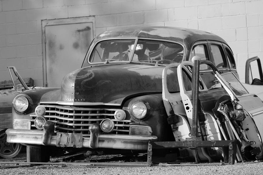 Cadillac Photograph - Better Days in Black and White by Colleen Cornelius