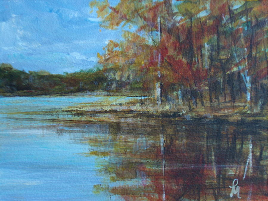 Fall Foliage Painting - Better Days by Pete Maier