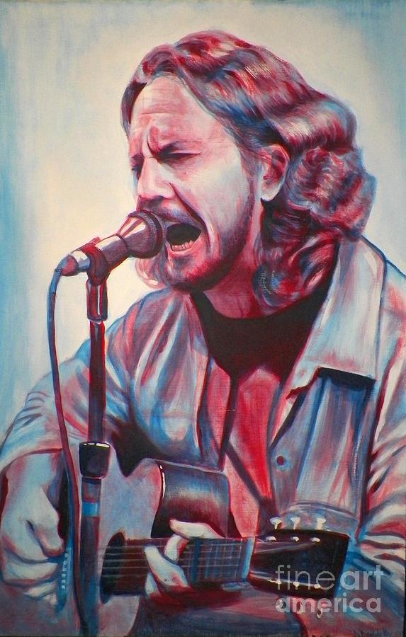 Acrylic Painting - Betterman Eddie Vedder by Derek Donnelly